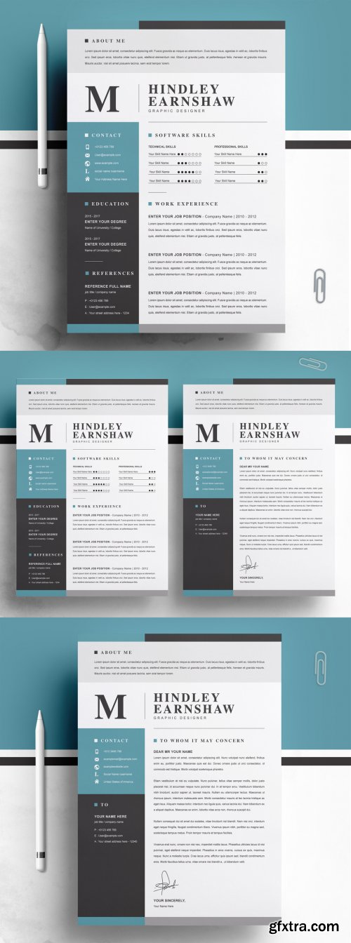 Clean Resume Template Layout 316254304
