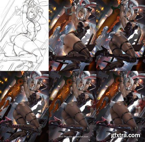 Sakimichan - Battle bunny riven Tutorial