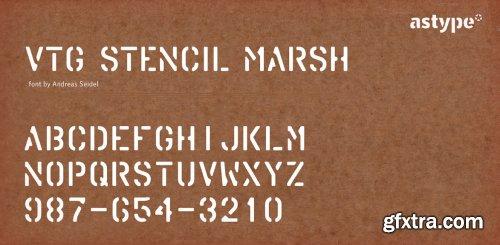 Vtg Stencil Marsh Complete Family