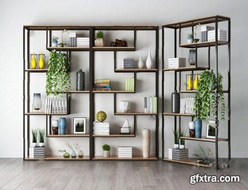Bookshelf / Decorative Set / Hanging plants