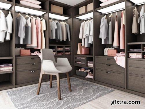 Modern Wardrobe / Clothing 02