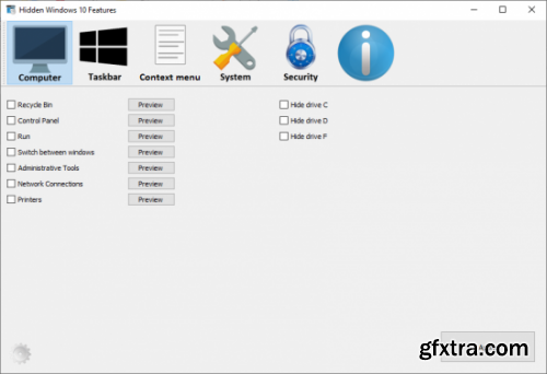 Hidden Windows 10 Features 1.0.0