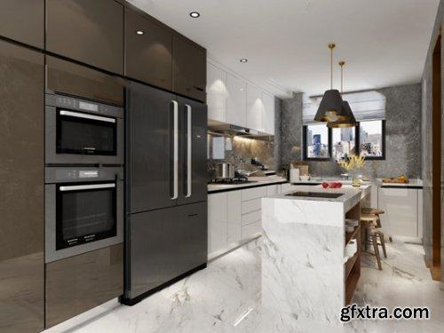 Modern Kitchen / Bar Counter 03