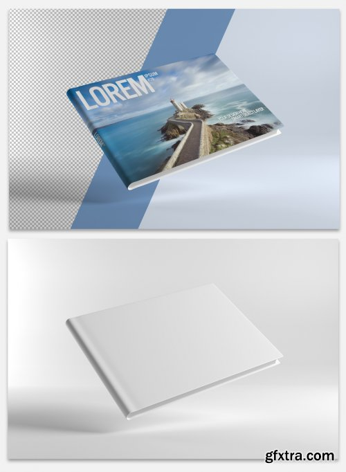A4 Book Cover Mockup 317826996