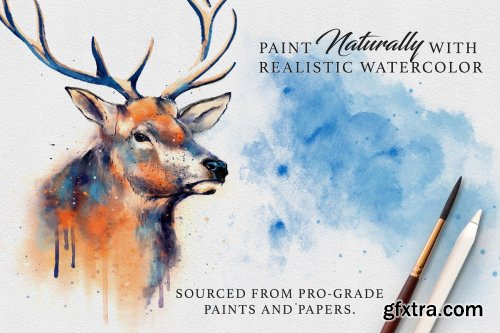 CreativeMarket - Master Watercolor Affinity Brushes 4494045