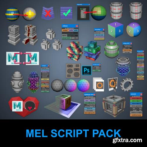 Gumroad – Malcolm341 All Mel Script Pack for Maya