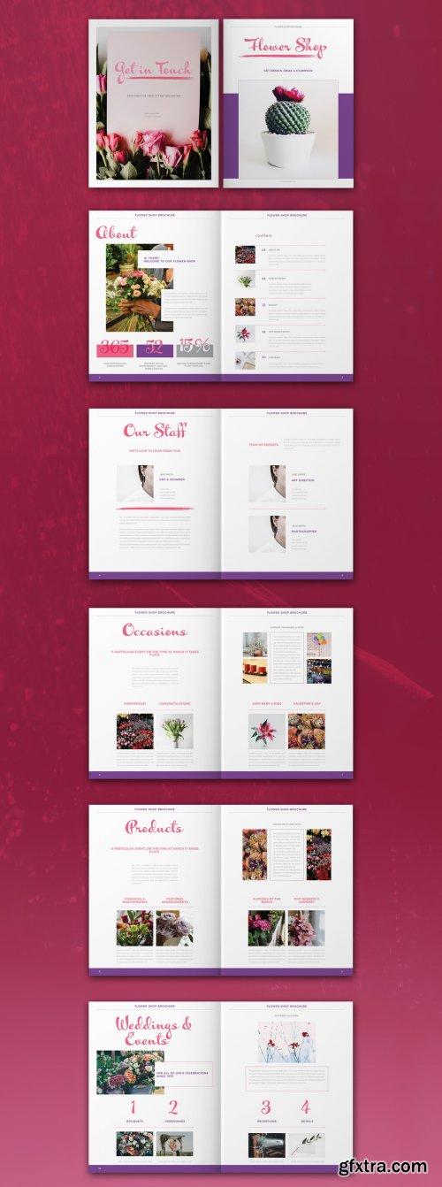 Flower Shop Brochure Layout 319007964