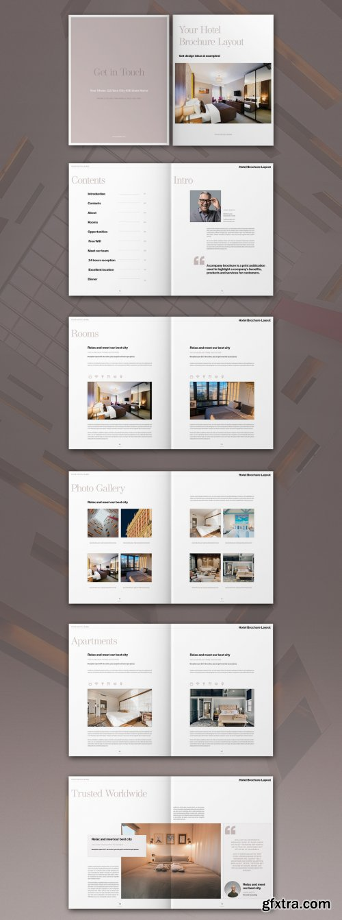 Hotel Brochure Layout 319007967