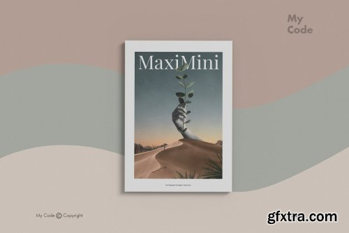 CreativeMarket - Minimalist Magazine Mockup 4509513