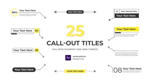 Modern Call Out Titles - 12340040