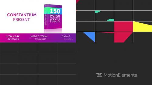 150 Motion Transition Pack - 12410771