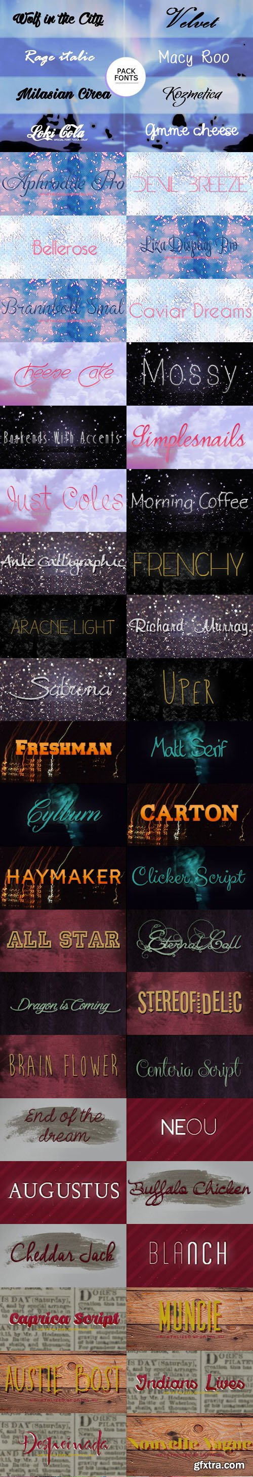 64 Fonts Collection