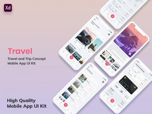 Tour & Travel Booking Mobile App UI Kit Light (XD) - tour-travel-booking-mobile-app-ui-kit-light-xd