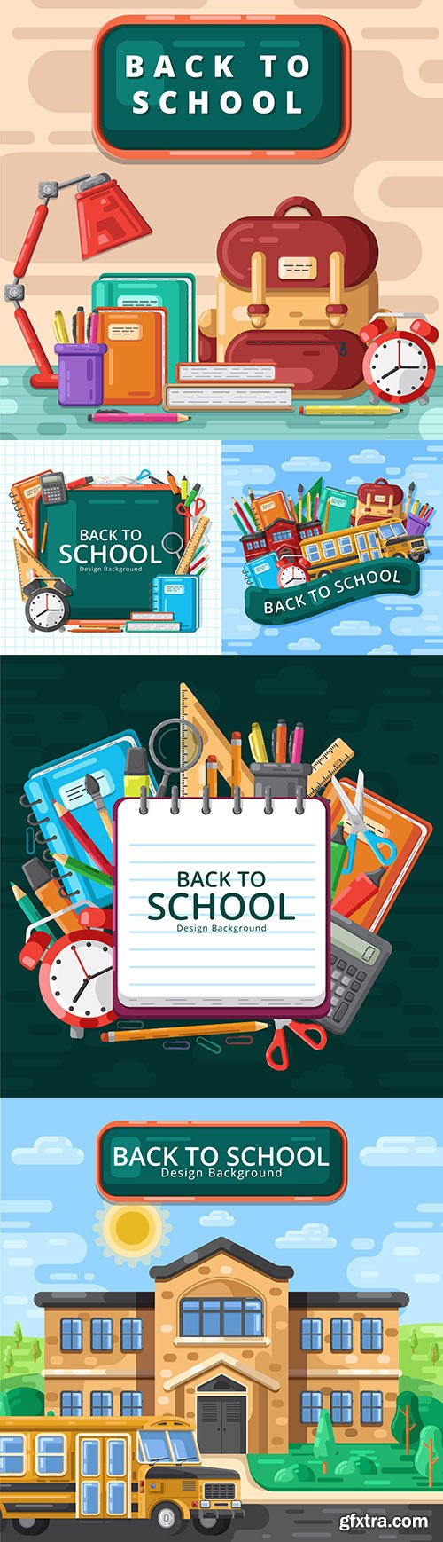 Back to school and accessories collection illustration 35
