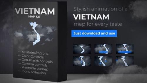 HOT - Videohive - Vietnam Map - Socialist Republic of Vietnam Map Kit - 25674538