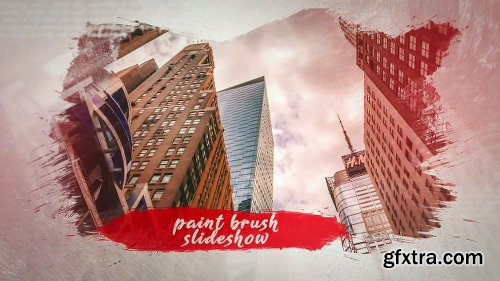 Videohive Brush Paint Slideshow 23643720