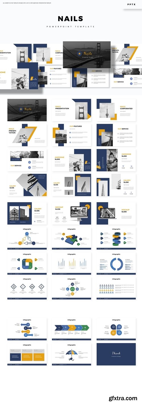 Nails Powerpoint, Keynote and Google Slides Templates