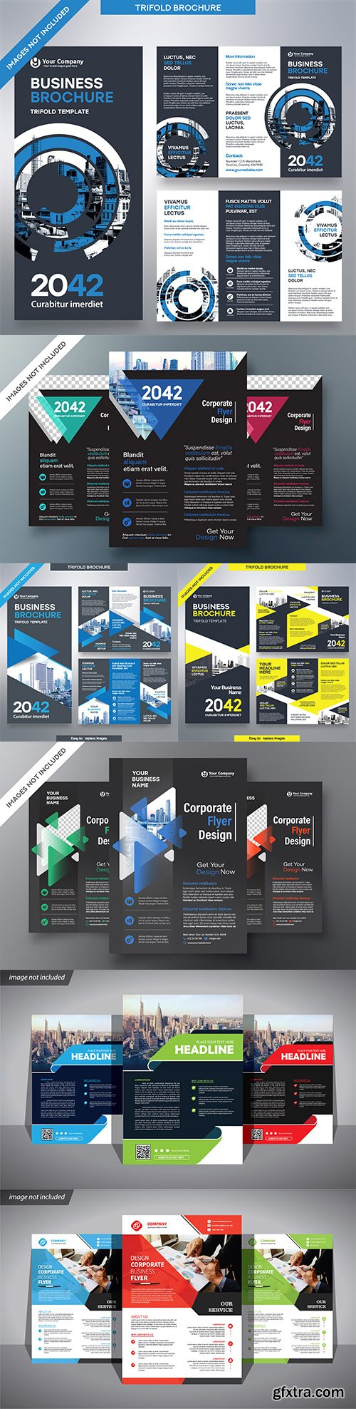 Flyer business for corporate brochure cover template