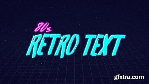 80s Retro Text Animation in After Effects