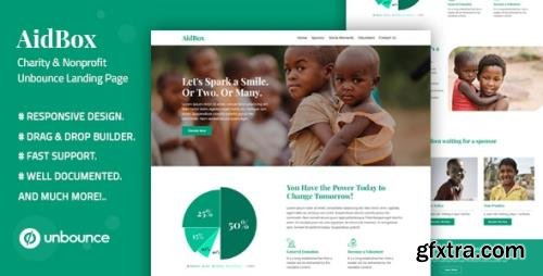 ThemeForest - Aidbox v1.0 - Charity & Nonprofit Unbounce Landing Page - 25656390