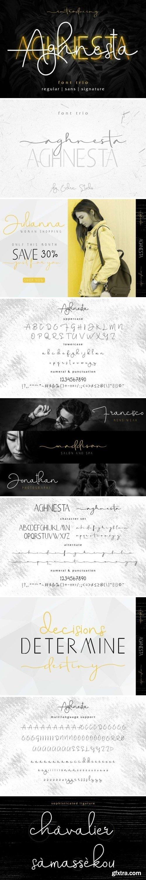 GraphicRiver - Aghnesta Font Trio 25603448
