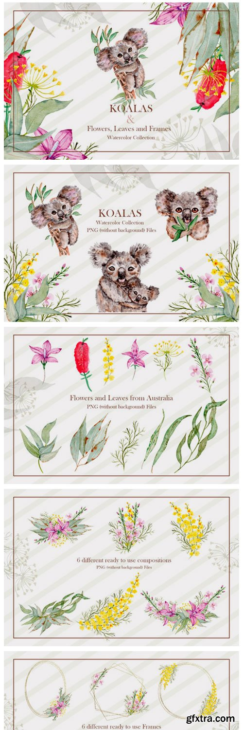 Watercolor Koala Collection 2789016
