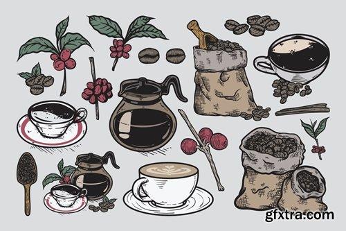 Coffee Drawing Set
