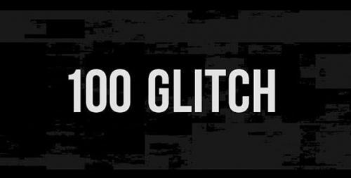 Videohive - 100 Glitch Overlay
