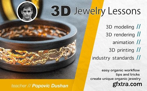 Jewelry 3D modeling, Beginner friendly class- Learn Rhino and Zbrush modeling workflow 2020