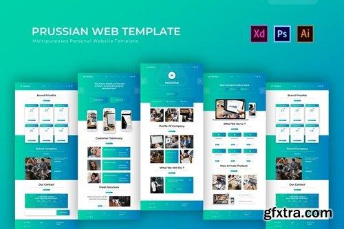 Prussian | PSD Web Template