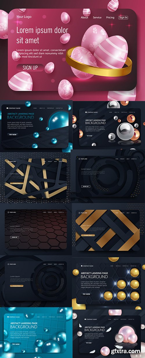 Website Landing Page Vector Template Pack