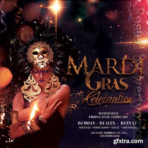 Masquerade Ball Party - Premium flyer psd template
