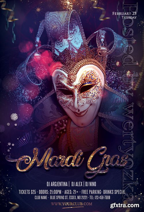 Carnival Night - Premium flyer psd template