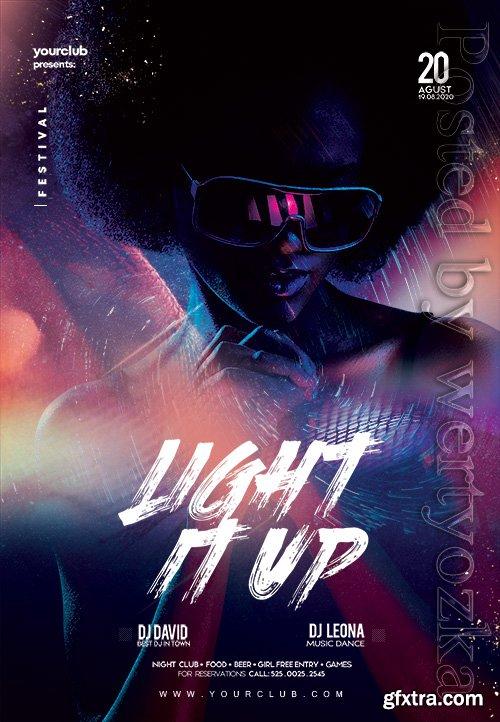 Light It Up Party - Premium flyer psd template