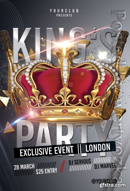 Kings Party - Premium flyer psd template
