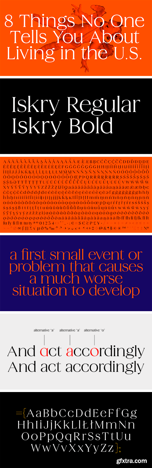 Iskry Font Family