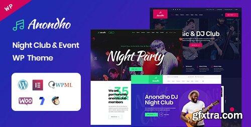 ThemeForest - Anondho v1.0 - Night & Club Event WordPress Theme - 25195597