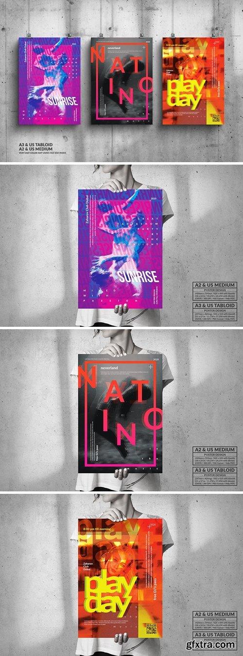 Music & Art Events Big Posters Design Bundle