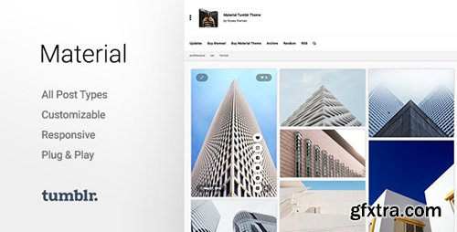 ThemeForest - Material v2.2.2 - Responsive, Full Width, Grid Tumblr Theme for Photographers - 10703443