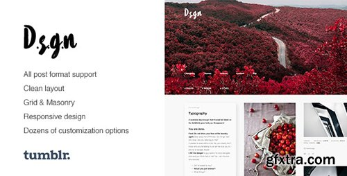 ThemeForest - D.S.G.N v1.0.6 - Grid-Based, Gallery Tumblr Theme - 12371149