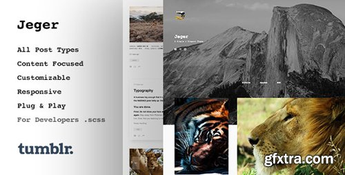 ThemeForest - Jeger v1.1.2 - Responsive Portfolio Tumblr Theme - 12248530