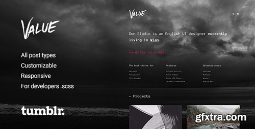ThemeForest - Value v2.0.4 - Portfolio Theme for Tumblr - 11492102