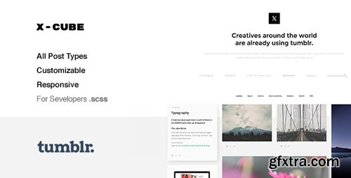 ThemeForest - X-Cube v1.2.4 - Portfolio, Grid-Based Tumblr Theme - 12203824