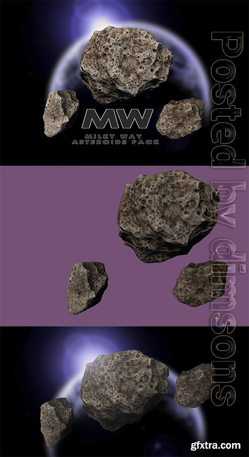 Cgtrader - Asteroids of Andromeda Low-poly 3D model