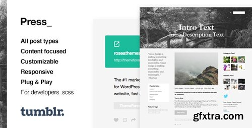 ThemeForest - Press v1.0.10 - Premium Blogging Tumblr Theme - 11780227