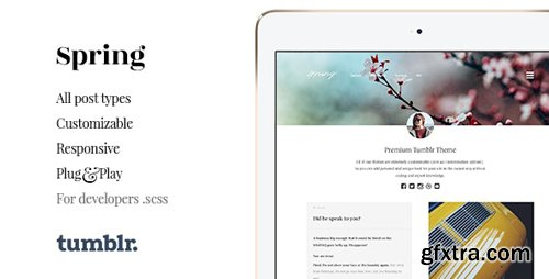 ThemeForest - Spring v1.4.1 - Two Column Portfolio Tumblr Theme - 11366587