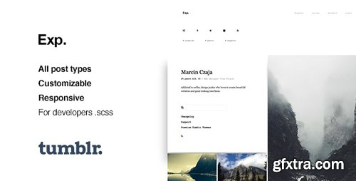 ThemeForest - Exp v1.2.2 - Minimalist Portfolio Tumblr Theme - 12421650