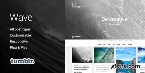 ThemeForest - Wave v1.2.6 - Grid-based, Responsive Portfolio Tumblr Theme - 11154296