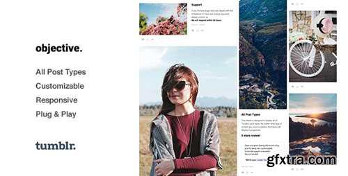 ThemeForest - Objective v1.2.7 - Photo Grid Tumblr Theme - 13410476