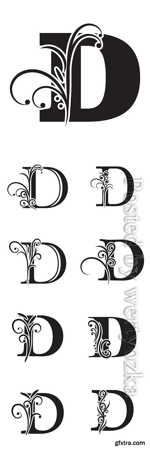 Letter D logo template vector icon design